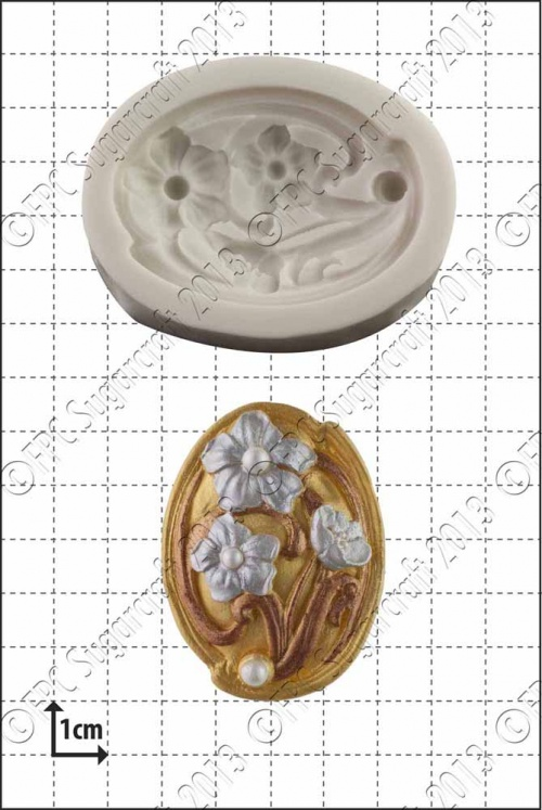 'Art Nouveau Flowers' Silicone Mould