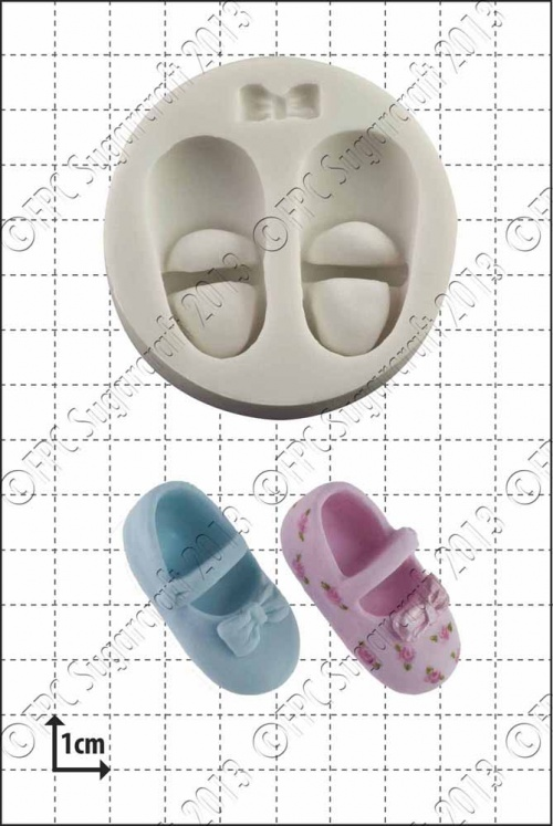 'Baby Shoes & Bow' Silicone Mould