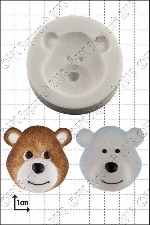 'Bear Head' Silicone Mould