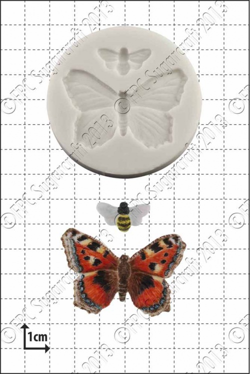 'Butterfly & Bee' Silicone Mould