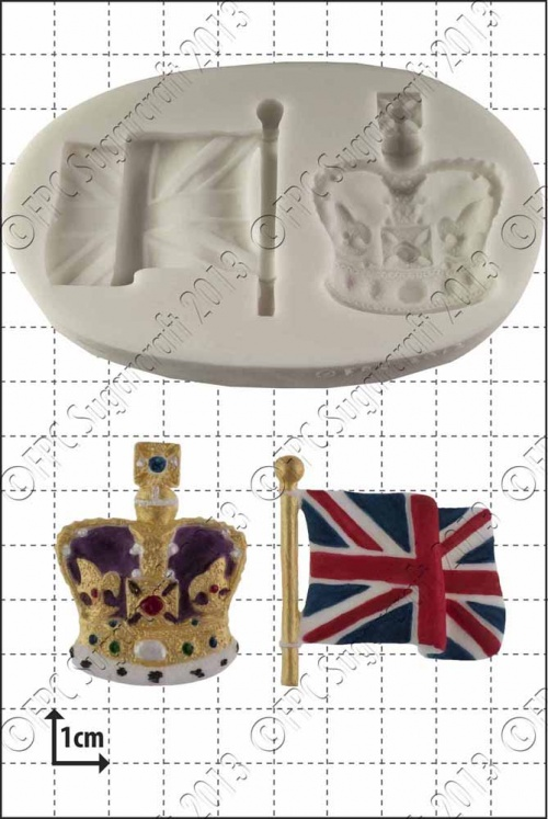 'Crown & Flag' Silicone Mould