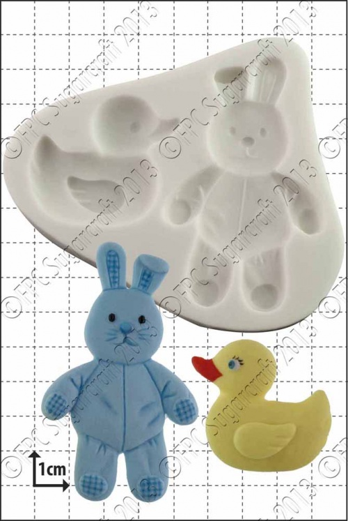 'Duck & Bunny' Silicone Mould