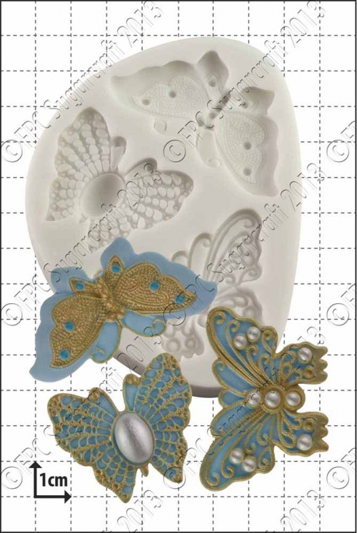 'Filigree Butterflies' Silicone Mould