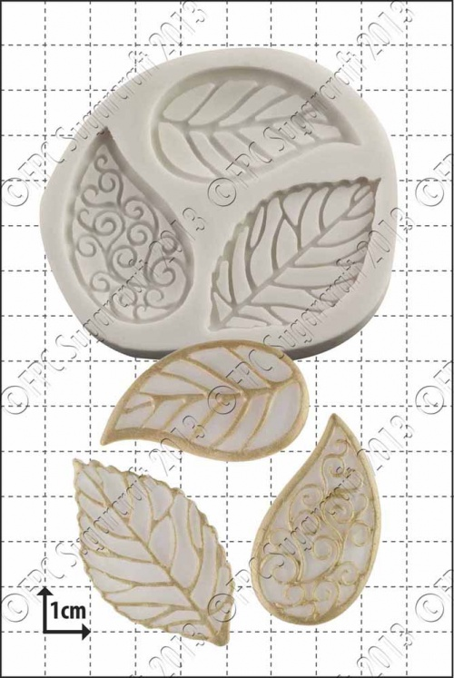 'Filigree Leaves' Silicone Mould