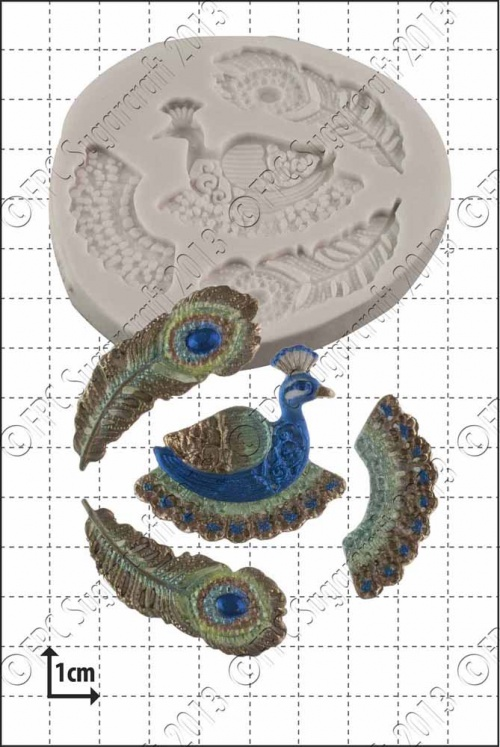 'Filigree Peacock' Silicone Mould