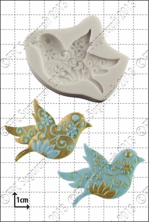 'Floral Bird' Silicone Mould