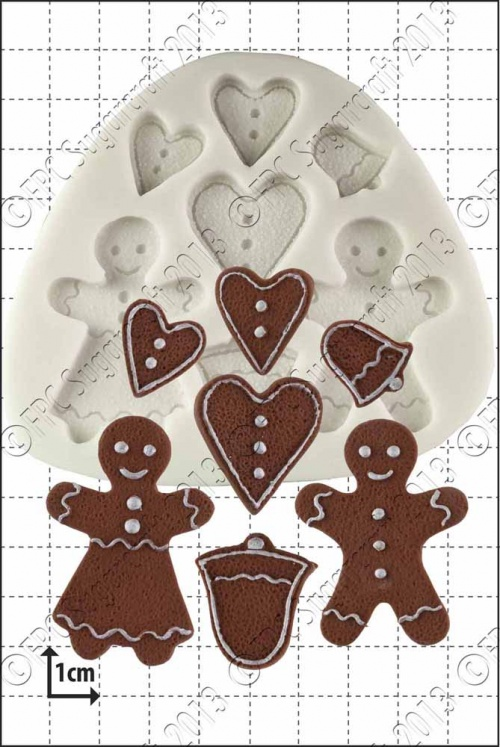 'Gingerbread People' Silicone Mould