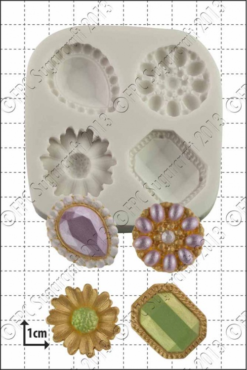 'Jewelled Brooches' Silicone Mould