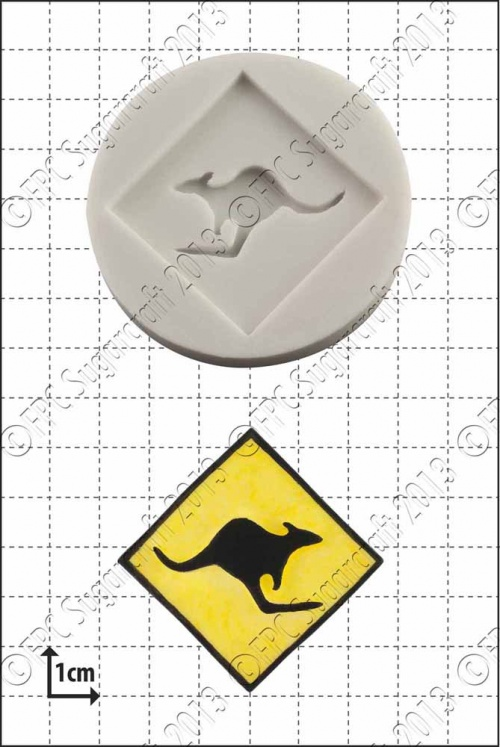 'Kangaroo Sign' Silicone Mould