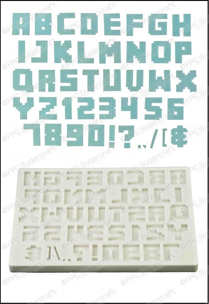 'Alphabet (Pixel Script)' Silicone Mould
