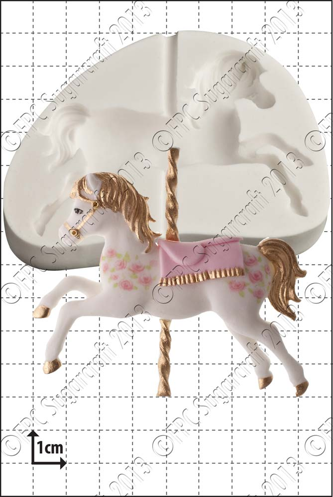 Carousel Horse Silicone Mould Www Fpcsugarcraft Co Uk