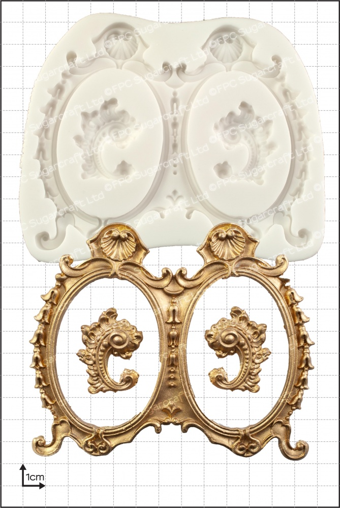 Large Double Frames\' Silicone Mould - www.fpcsugarcraft.co.uk