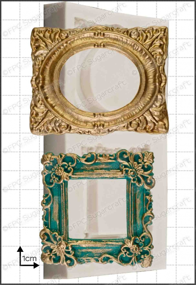 picture frames uk  Picture Frames (Ornate)' Silicone Mould - www.fpcsugarcraft.