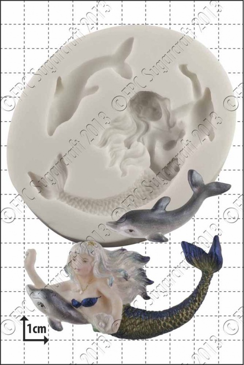 'Mermaid & Dolphin' Silicone Mould