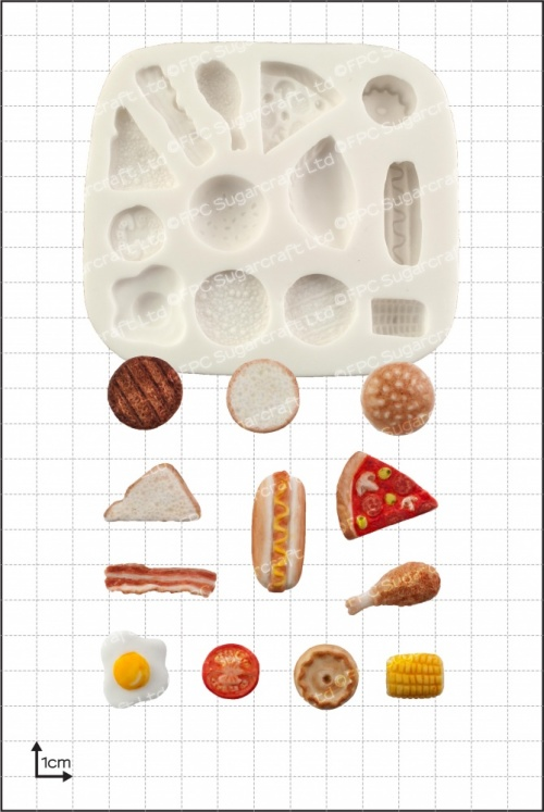 'Miniature Food' Silicone Mould
