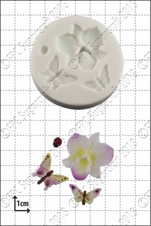 'Orchid & Insects' Silicone Mould