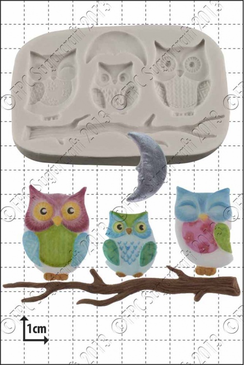 'Owl Family' Silicone Mould