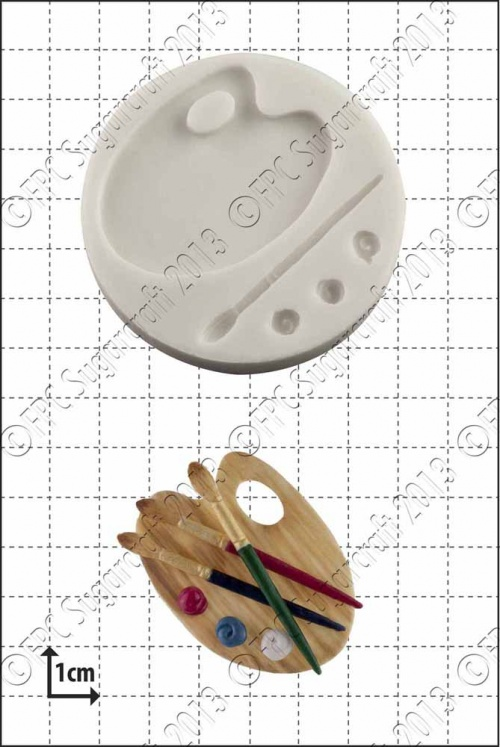 'Palette & Brush' Silicone Mould