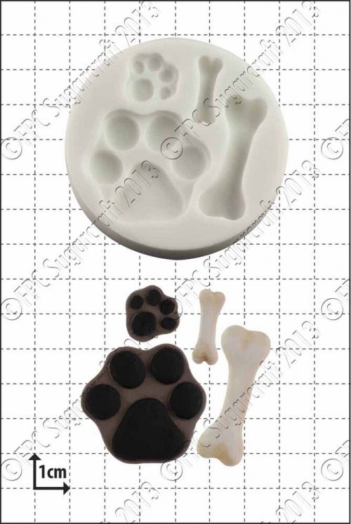 'Paws and Bones' Silicone Mould
