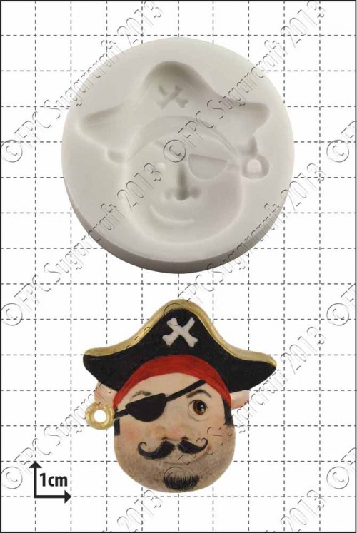 'Pirate Face (1)' Silicone Mould