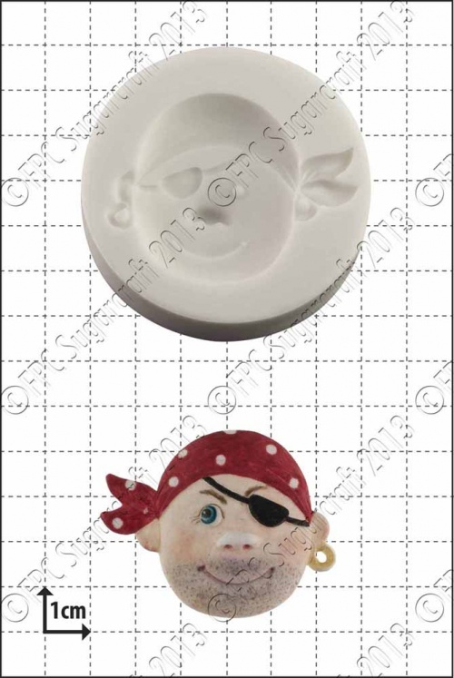 'Pirate Face (2)' Silicone Mould