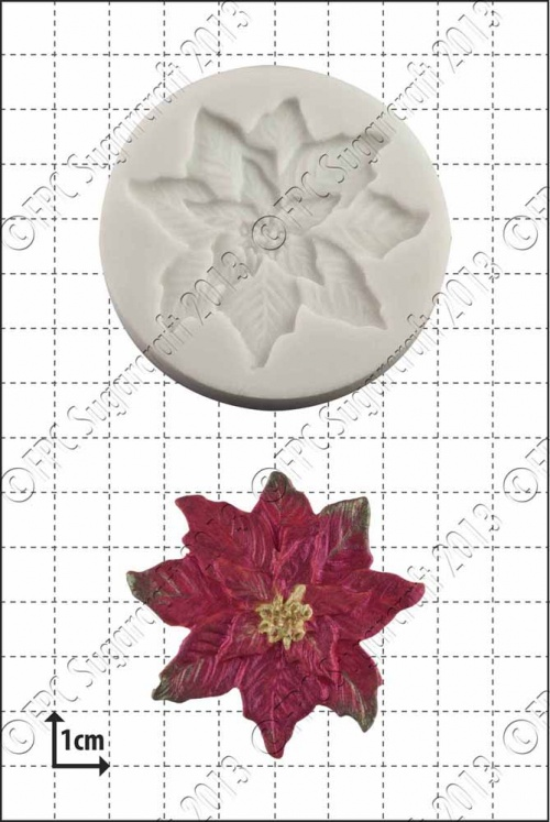 'Poinsettia' Silicone Mould