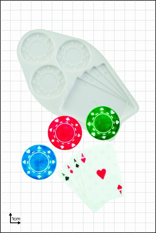 'Poker Chips & Cards' Silicone Mould