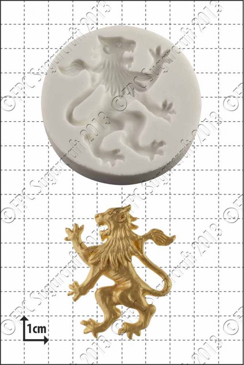 'Rampant Lion (Left)' Silicone Mould