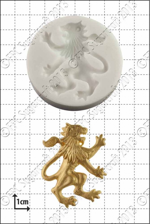 'Rampant Lion (Right)' Silicone Mould