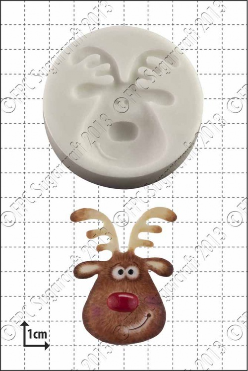 'Reindeer Head' Silicone Mould