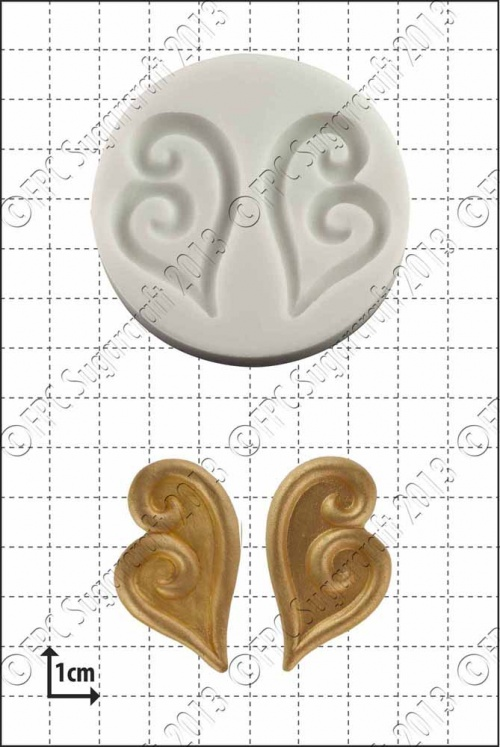 'Reverse Hearts' Silicone Mould