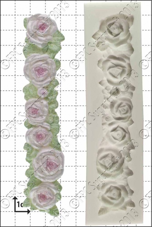 'Rose border' Silicone Mould