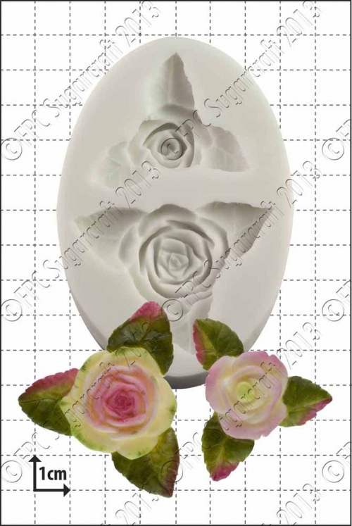 'Roses and Leaves' Silicone Mould