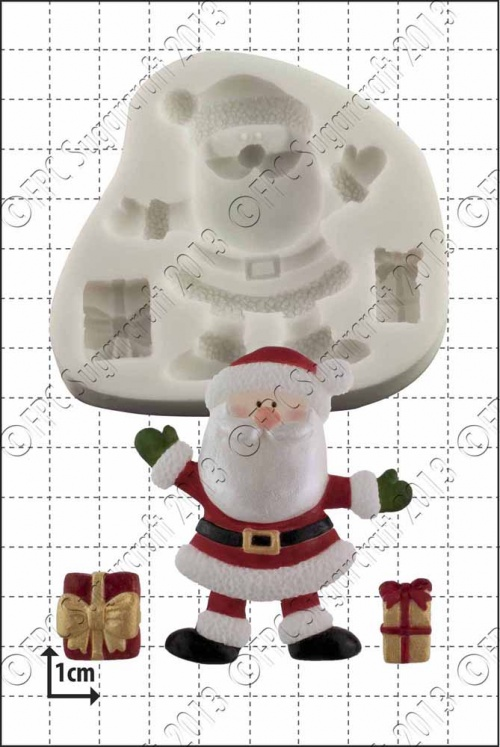 'Santa and Gifts' Silicone Mould