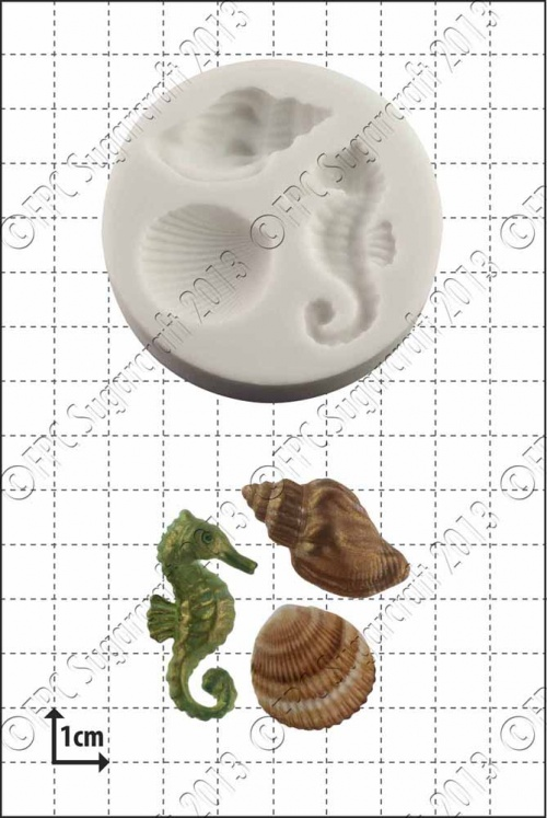 'Seahorse & shells' Silicone Mould
