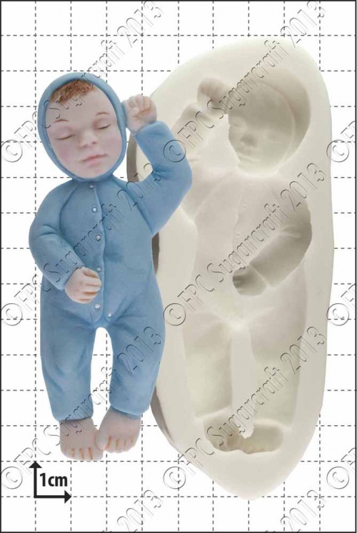 'Sleeping Baby' Silicone Mould