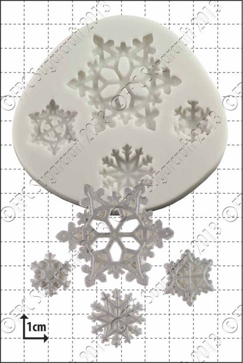 'Snowflakes' Silicone Mould