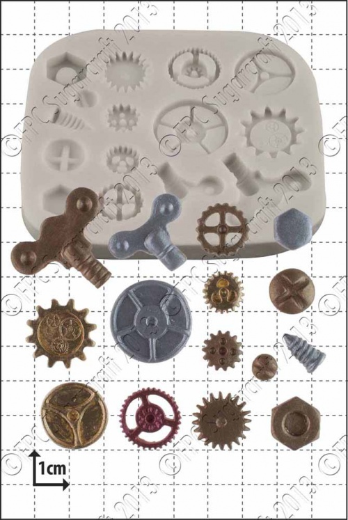 'Steam Punk Cogs & Gears' Silicone Mould