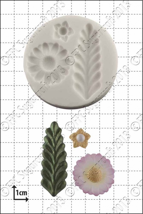 'Stylised Fern & Flowers' Silicone Mould