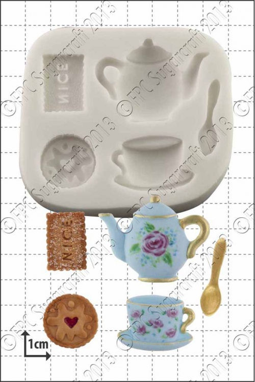 'Tea & Biscuits' Silicone Mould