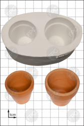 '3D Flower Pots' Silicone Mould