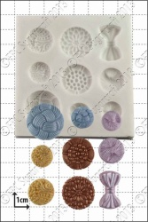 'Antique Buttons' Silicone Mould