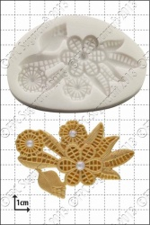 'Art Deco Flowers' Silicone Mould