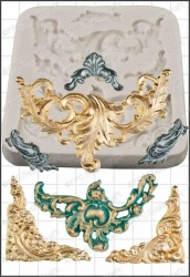 'Baroque Scrolls' Silicone Mould
