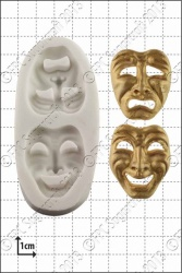 'Comedy and Tragedy Masks' Silicone Mould