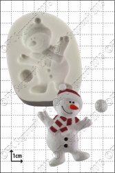 'Dancing Snowman' Silicone Mould