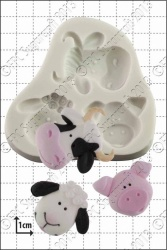'Farm Animals' Silicone Mould
