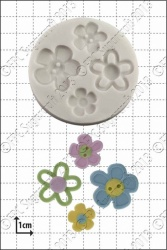 'Flower Buttons' Silicone Mould