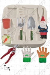 'Gardening Tools' Silicone Mould