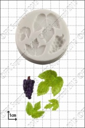 'Grape & Vine Leaves' Silicone Mould